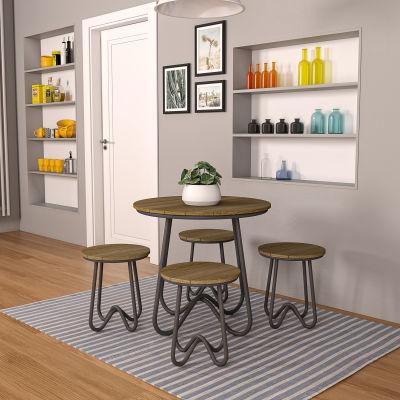 5 Piece Bistro Table & Stool Set - Indoor & Outdoor Use