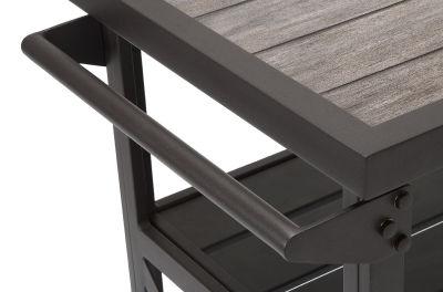 Rustic Aluminium Serving Cart With Handle