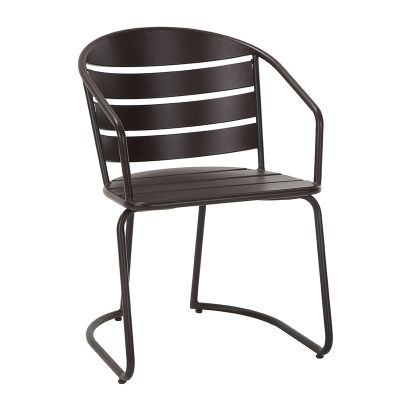 2 Sturdy Metal Patio Chair Finished In Sandy Brown And Designed To Last For Years