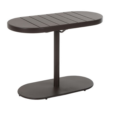 4 Stylish Brown Steel Patio Table - Weather Resistant Finish