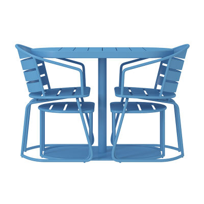 Nesting Five Piece Turquoise Furniture Set - Nested