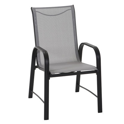 7 Piece Patio Table And Chair Set - Dark Grey Frame