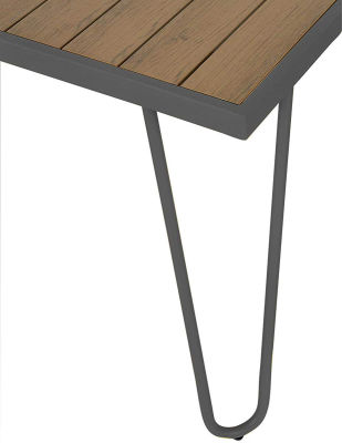 Steel-framed Table And Bench Dining Set - Corner - Charcoal
