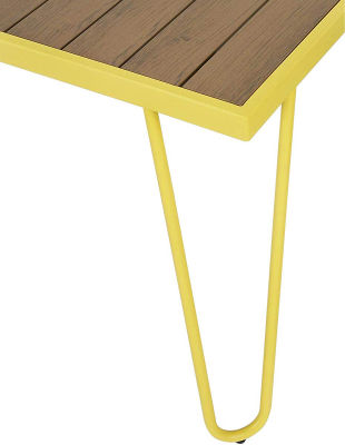 Steel-framed Table And Bench Dining Set - Corner - Yellow