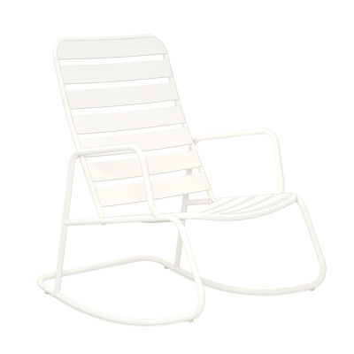 3 - White Rocking Chair - 3 Piece Rocker Set