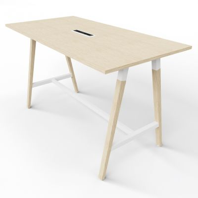 4 Person High Table - Electric Top - Oak Top
