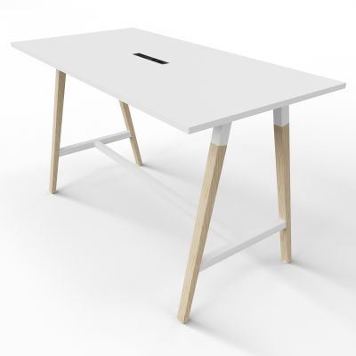 4 Person High Table - Electric Top - White Top