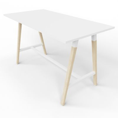 4 Person High Table - Standard - White Top