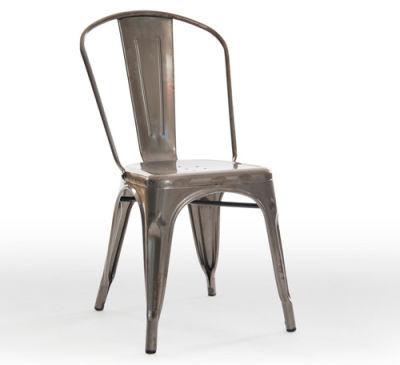 Castle Gun Metal Grey Chair Angle