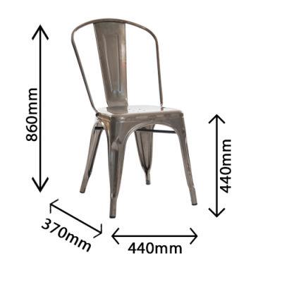 Castle Gun Metal Grey Chair Dimensions