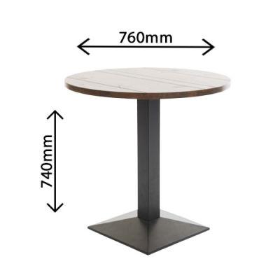 Liberty Circular Table Walnut Dimensions
