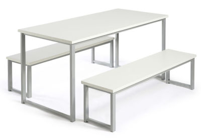 MIDAS BENCH DINING SETS WHITE