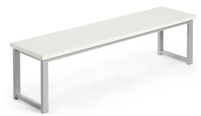 MIDAS DINING HEIGHT BENCHES WHITE