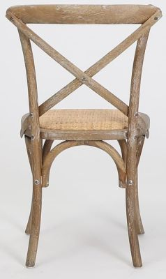 Herson Wooden Bistro Chair In Oak And Natural Hessian Seat Rear View