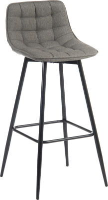 Mirage Quilted Bar Stool Front Angloe View