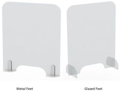 Protect Sneeze Screens With Metal & Acrylic Feet