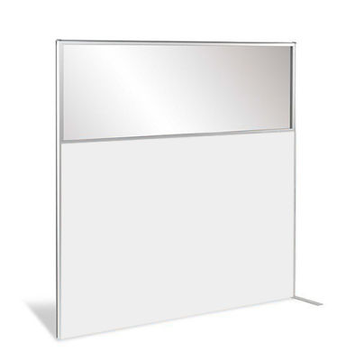 Protect Deluxe Semi Glazed White Wood Screen