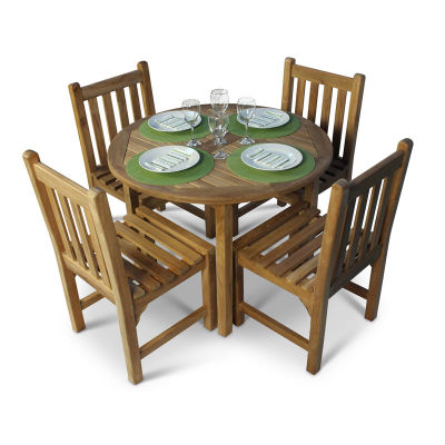 Dalton Round Outdoor Teak Dining Set