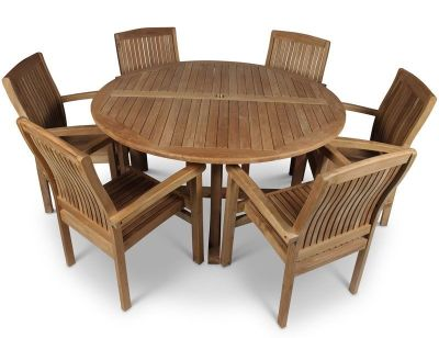 Beckley Large 6 Person Dining Table And Chair Set