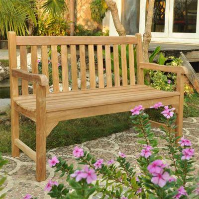 Clifton 2 Person Teak Bench In Garden