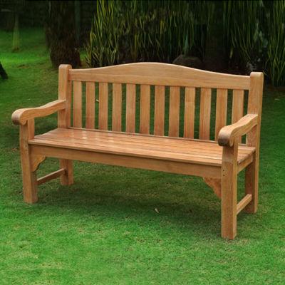 Milton 3 Person Teak Bench In Garden