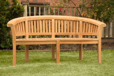 Shenley Three Person Teak Bench In Garden