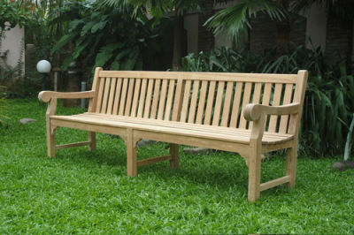 Chalton 6 Person Extra Large Teak Bench In Garden