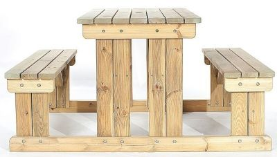 Woodley 4 Person Picnic Bench Side View