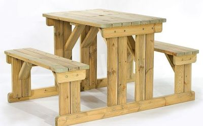 Woodley 4 Person Picnic Bench