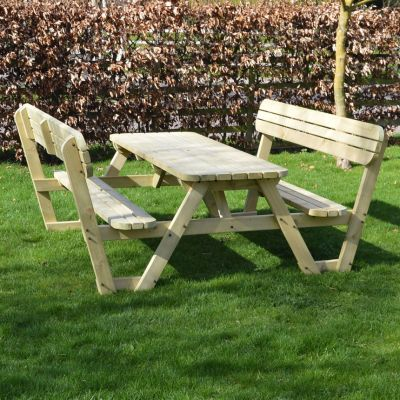 Rounded Picnic Bench