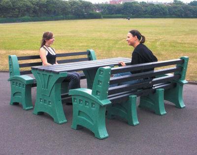 8 Person Picnic Table & Seat Set