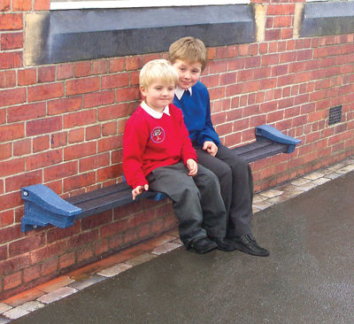 Wall Mounted Bench - Blue