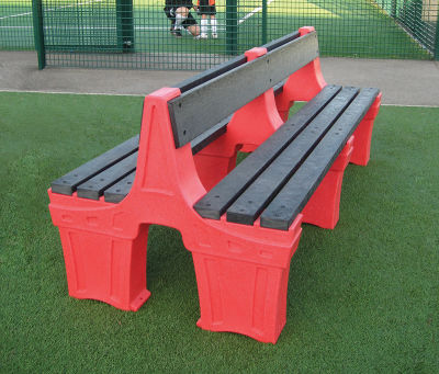 6 Person Double Sided Seat - Red