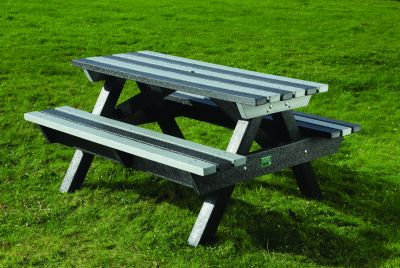 Heavy Duty Picnic Bench - Black & Grey