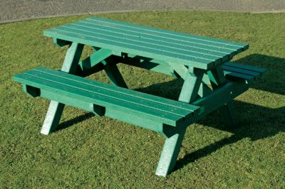 Heavy Duty Picnic Bench - Green