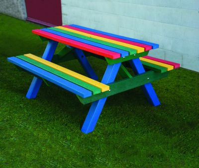 Heavy Duty Picnic Bench - Rainbow