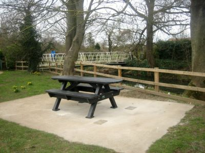 Heavy Duty Picnic Bench Extended Top - Black