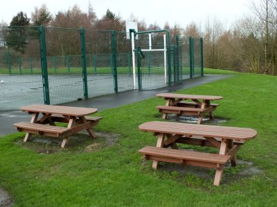 Heavy Duty Picnic Bench Extended Top - Brown
