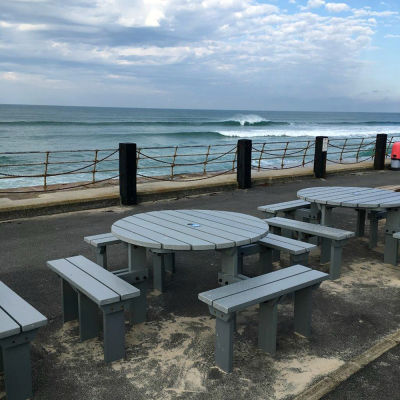 Grey Olympic Benches