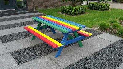 Junior Picnic Bench Rainbow