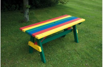 Parthenia Easy Clean Recycled Plastic A Table Rainbow