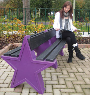 Double Sided Star Bench - Purple