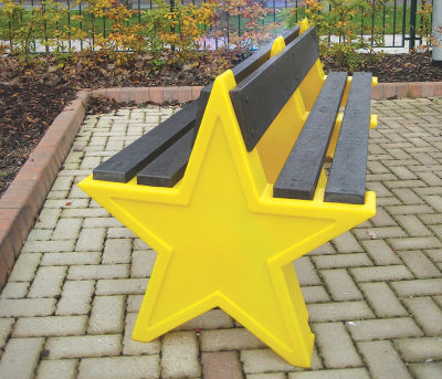 Double Sided Star Bench - Yellow