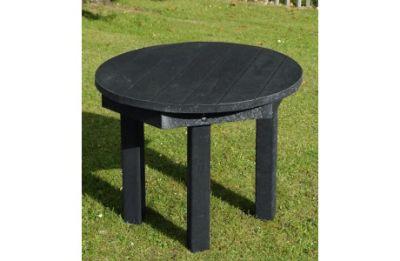Parthenia Easy Clean Recycled Plastic Circular Table Black