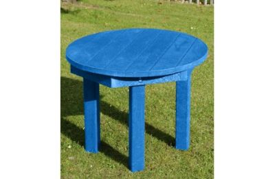Parthenia Easy Clean Recycled Plastic Circular Table Blue