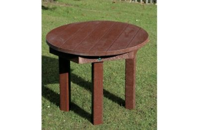 Parthenia Easy Clean Recycled Plastic Circular Table Brown
