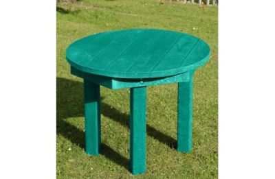 Parthenia Easy Clean Recycled Plastic Circular Table Green
