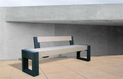 Parthenia Easy Clean Recycled Plastic Street Bench 180 ML