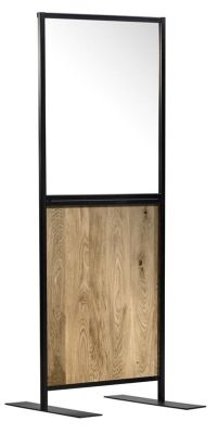 Protect Express Hospitality Screen With An Oak Efect Panel