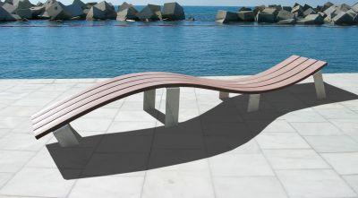 Parthenia Wave Bench Water
